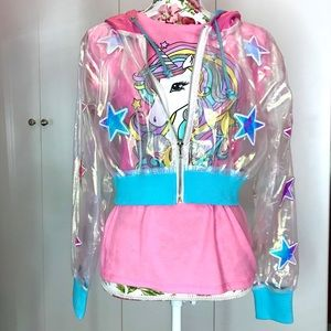 Dolls Kill Holographic Translucent Star Jacket